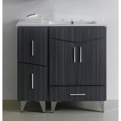 Emerson 36 Single Bathroom Vanity Set Faucet Mount: 4 Center