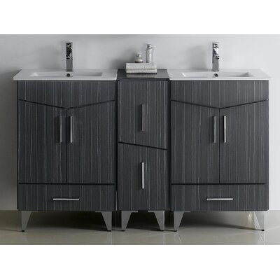 Zen Modern Wall Mount 60 Bathroom Vanity Base