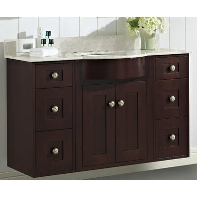 Kester 48 Single Bathroom Vanity Set with Stone Top Faucet Mount: 8 Center