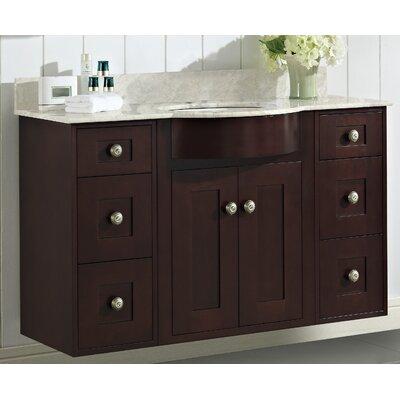 Kester 48 Single Bathroom Vanity Set with Stone Top Faucet Mount: Single