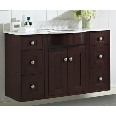 Kester 48 Rectangle Wood Single Bathroom Vanity Set Faucet Mount: 4 Center