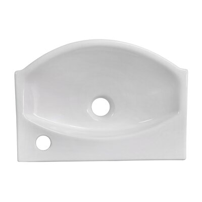 Ceramic 17 Wall Mount Bathroom Sink