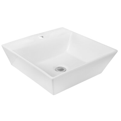 Above Counter Square Vessel Bathroom Sink