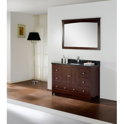 "Shaker 48"" Modern Vanity Base Set Base Finish: Walnut"