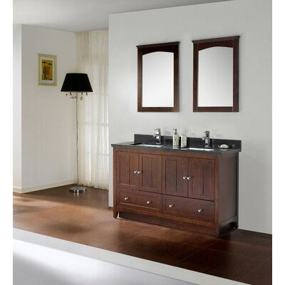 60 Modern Vanity Base Base Finish: Walnut