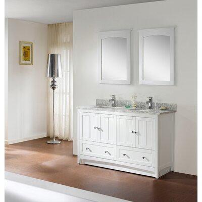 60 Modern Vanity Base Base Finish: White