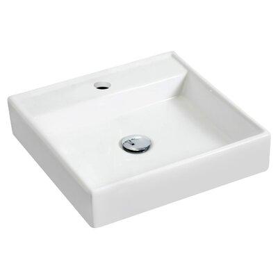 "17.5"" Wall Mount Bathroom Sink with Overflow JB-14831"
