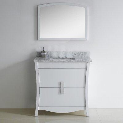 Bow 35 Single Bathroom Vanity Set Faucet Mount: 8 Center