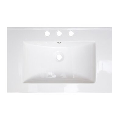 24 Single Bathroom Vanity Top Faucet Mount: 4 Center