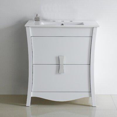Bow 30 Bathroom Vanity Set Faucet Mount: 8 Center