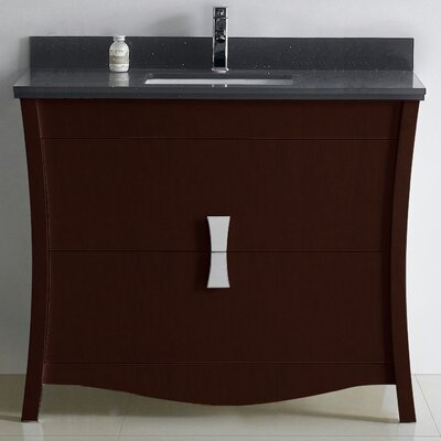 Bow 47 Single Bathroom Vanity Set Faucet Mount: Single