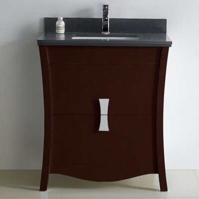 Bow 29 Single Bathroom Vanity Set Faucet Mount: Single