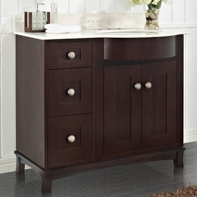 Kester 36 Rectangle Bathroom Vanity Top Finish: Biscuit, Faucet Mount: 4 Center
