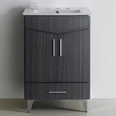 Emerson 24 Rectangle Bathroom Vanity Set Faucet Mount: 8 Center