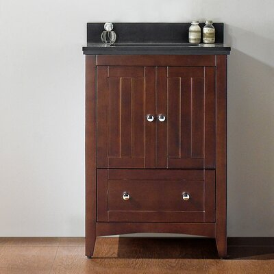 23.5 Single Bathroom Vanity Set Top Finish: Black Galaxy, Faucet Mount: 4 Center