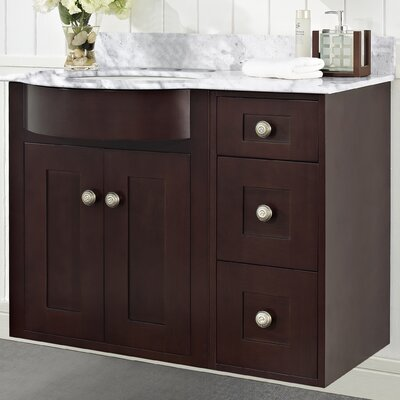 Kester Transitional 36 Rectangle Bathroom Vanity Top Finish: Biscuit, Faucet Mount: 8 Center