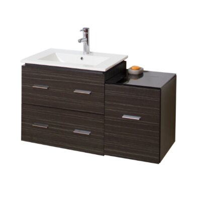 Modern 37 Single Bathroom Vanity Base Hardware Finish: Brushed Nickel