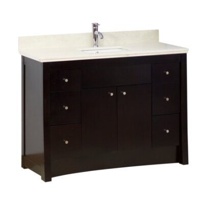 Transitional 31 Single Bathroom Vanity Base Hardware Finish: Aluminum