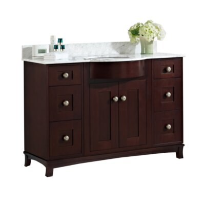 Kester 48 Multi-layer Stain Wood Single Bathroom Vanity Set