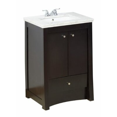 Transitional 23 Single Bathroom Vanity Base Hardware Finish: Brushed Nickel