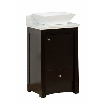 Transitional 19 Single Bathroom Vanity Base Hardware Finish: Aluminum