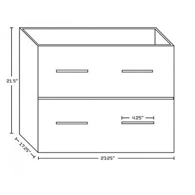 Xena Plywood-Veneer 89 Double Bathroom Vanity Base