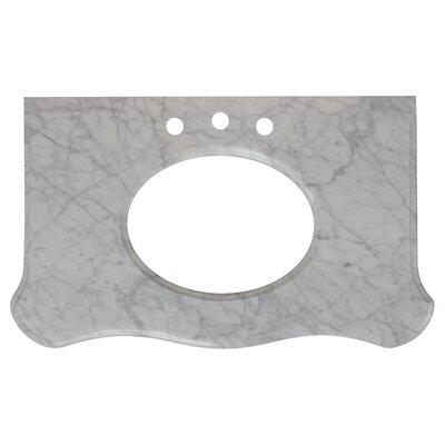 Antique Marble 37 Single Bathroom Vanity Top Top Finish: Bianca Carara