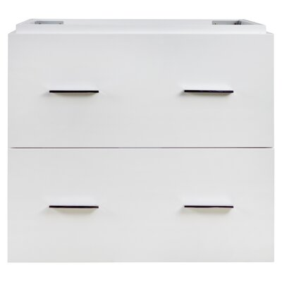 Maryalice Wall Mount 48 Double Bathroom Plywood Vanity Set Base Finish: White