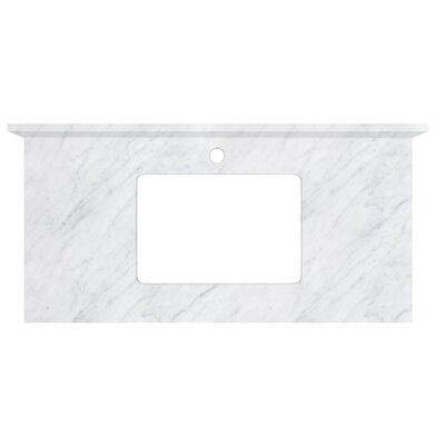 Shaker Quartz 36 Single Bathroom Vanity Top Top Finish: Bianca Carara, Faucet Mount: Single Hole