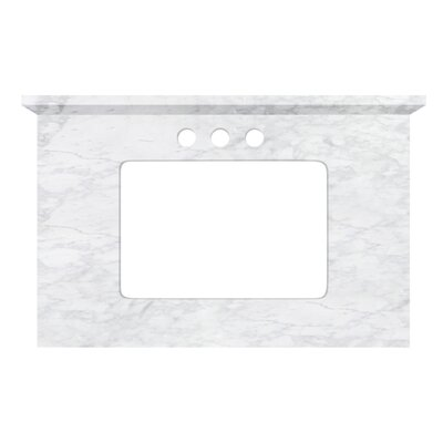 Shaker Quartz 31 Single Bathroom Vanity Top Top Finish: Bianca Carara, Faucet Mount: 4 Centers