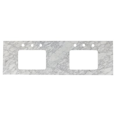 Shaker Quartz 59 Single Bathroom Vanity Top Top Finish: Bianca Carara, Faucet Mount: 8 Centers
