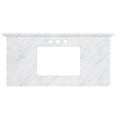 Shaker Quartz 36 Single Bathroom Vanity Top Top Finish: Bianca Carara, Faucet Mount: 4 Centers