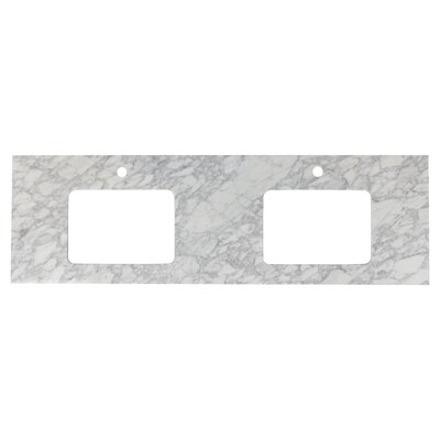 Shaker Quartz 59 Single Bathroom Vanity Top Top Finish: Bianca Carara, Faucet Mount: Single Hole