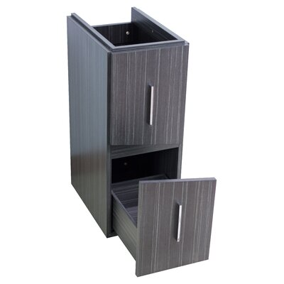 Kapp Modern Wood Floor Mount 35.5 Single Bathroom Vanity Set