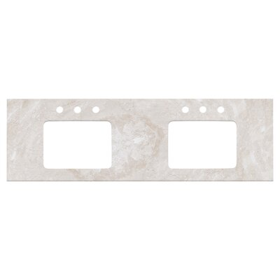 Shaker Quartz 59 Single Bathroom Vanity Top Top Finish: Beige, Faucet Mount: 8 Centers
