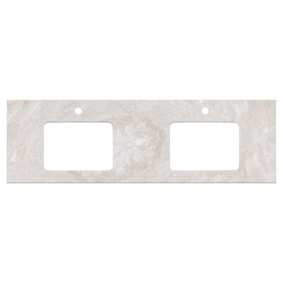Shaker Quartz 59 Single Bathroom Vanity Top Top Finish: Beige, Faucet Mount: Single Hole