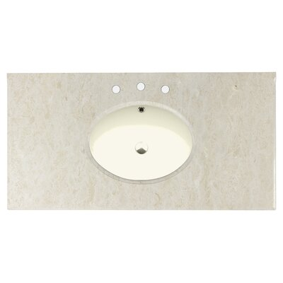 Juliet Marble 43 Single Bathroom Vanity Top