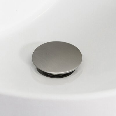 37 Single Bathroom Vanity Top Drain Color: Chrome