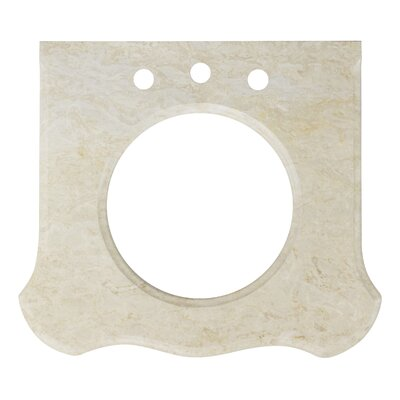 Marble 25.25 Single Bathroom Vanity Top