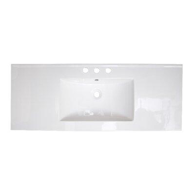 Roxy Ceramic 48 Single Bathroom Vanity Top Faucet Mount: 8 Centers