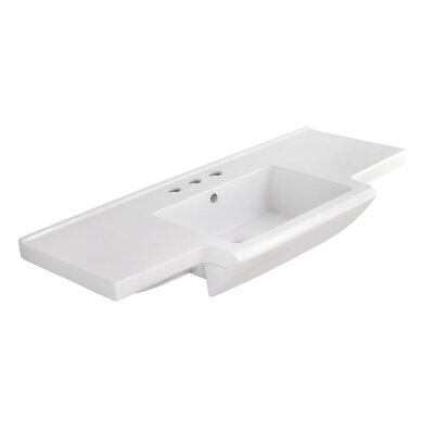 Prelude Ceramic 40 Bathroom Vanity Top Faucet Mount: 4 Centers