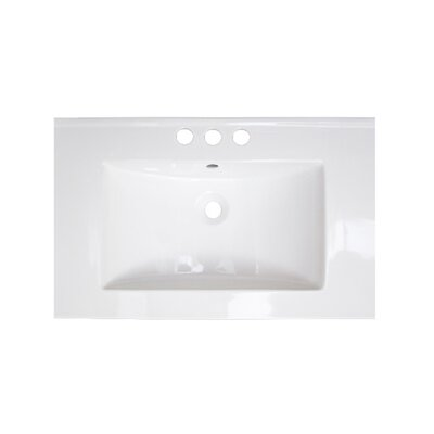 Vee Ceramic 21 Single Bathroom Vanity Top Faucet Mount: 8 Centers