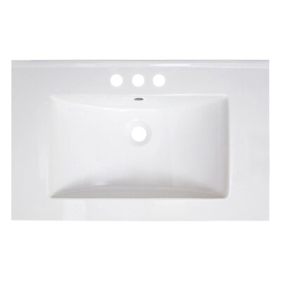 Vee Ceramic 30 Single Bathroom Vanity Top Top Finish: 4 Centers