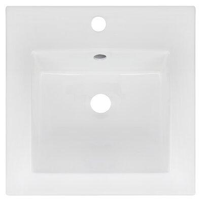Ceramic 17 Single Bathroom Vanity Top Faucet Mount: Single Hole