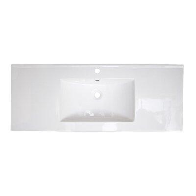 Ceramic 40 Single Bathroom Vanity Top Faucet Mount: Single