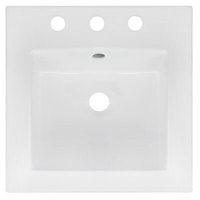 Ceramic 17 Single Bathroom Vanity Top Faucet Mount: 8 Centers