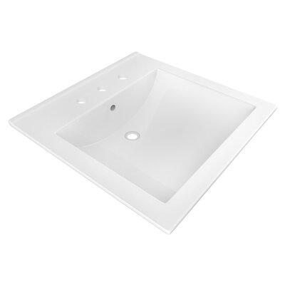 Ceramic 22 Single Bathroom Vanity Top Faucet Mount: 8 Centers