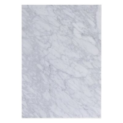 Flair Marble 12 Single Bathroom Vanity Top Top Finish: Bianca Carara