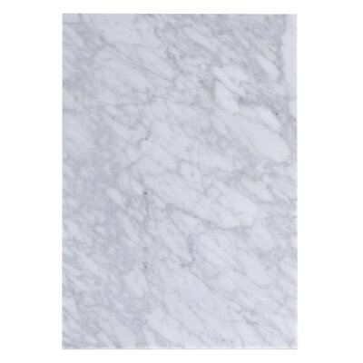 Juliet Marble 12 Single Bathroom Vanity Top Top Finish: Bianca Carara