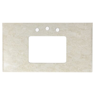 Juliet Marble 36 Single Bathroom Vanity Top Top Finish: Beige